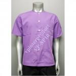01.เสื้อใส่นวดสีพื้น (สีม่วงอ่อน) จำนวนสั่งซื้อ 101 – 500 ตัว ราคาตัวละ 140 บาท