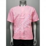 04.เสื้อใส่นวดสีพื้น (สีชมพูอ่อน) จำนวนสั่งซื้อ 101 – 500 ตัว ราคาตัวละ 140 บาท