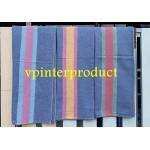 ผ้าห่มโบตั๋น ผ้าห่มเทา ผ้าห่มมีแถบคละสี ขนาด 130x180 ซม
