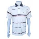 VP04 - เสื้อโปโล ผ้าจูติสี มีลายทั้งตัว เนื้อนุ่ม S / M / L / XL - จำนวนการสั่งซื้อ 100 ตัวขึ้นไป ตัวละ 160 บาท
